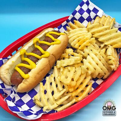 Brisket Hot Dog Combo