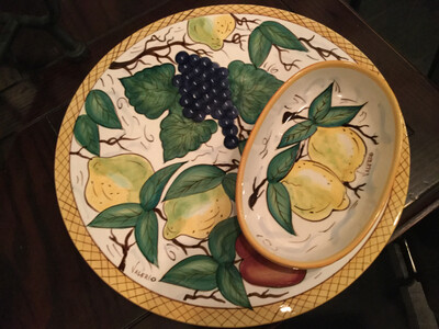 Valerio Platter And Bowl Set