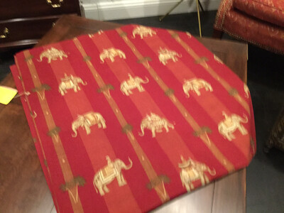 145 Table Cloth/bed Scarf  Elephant 32x67