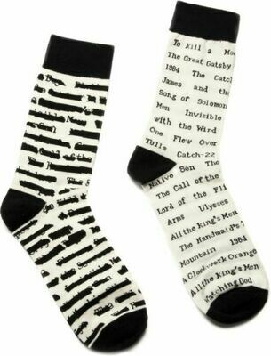 Banned Books Socks Large