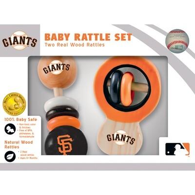 San Francisco Giants Real Wood Baby Rattles