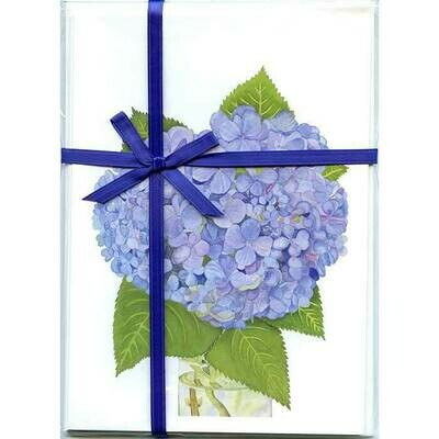 Hydrangea – Floral Notecard 4 Card Gift Pack by Stephanie Scott