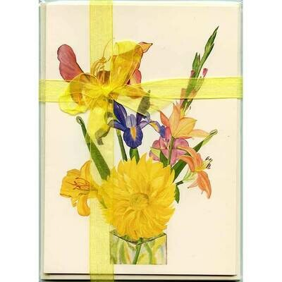 Summer Flowers – Floral Notecard 4 Card Gift Pack by Stephanie Scott