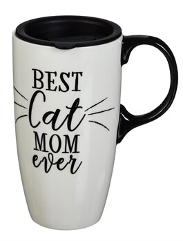 Best Cat Mom Ever Travel Cup, 17 OZ