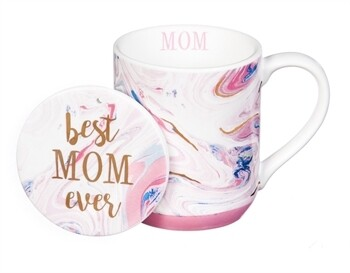 Best Mom Ever Cup and Coaster 10 oz.