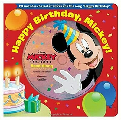 Happy Birthday, Mickey! Read-Along Storybook & CD (Board book)