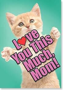 Mother's Day Card: Love You This Much, Mom!