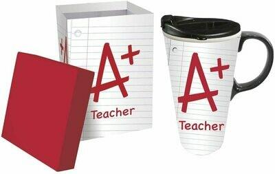 A+ Teacher Notebook Paper Ceramic 17 oz. Perfect Cup