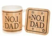 No. 1 Dad Mug & Coaster Set