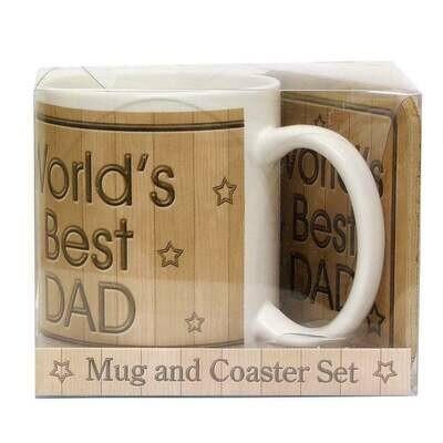 World's Best Dad Mug and Coaster Set
