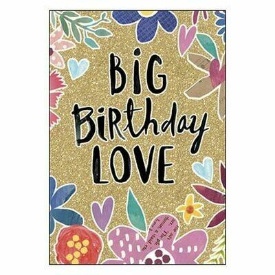 Big Birthday Love Birthday Card