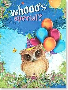 Whooo's special? Birthday Card