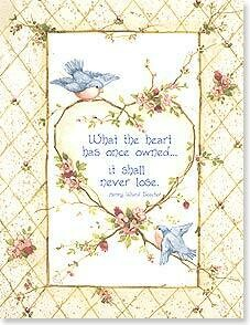 What the heart has once owned... Sympathy Card
