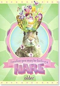 A Hare Older Birthday Card