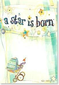 A Star is Born Baby Congratulations Card