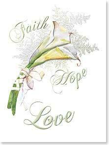 Faith Hope Love Wedding Congratulations Card