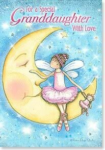 To the Moon and Back Granddaughter Birthday Card