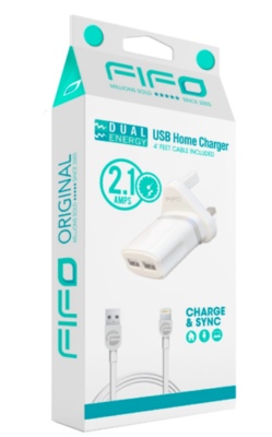 FIFO USB Home Charger for Apple Products