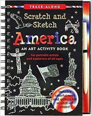 Scratch & Sketch America (Trace Along) Spiral-bound