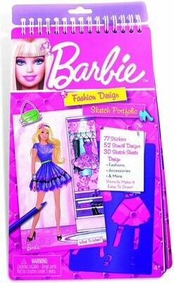Barbie Fashion Design Compact Sketch Portfolio