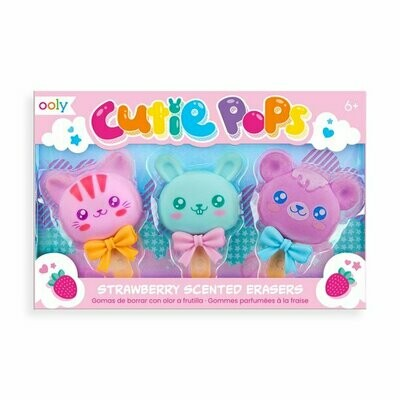 Ooly, Cutie Pops Scented Erasers - Set of 3
