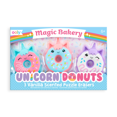 Ooly, Magic Bakery Unicorn Donuts Scented Erasers - Set of 3