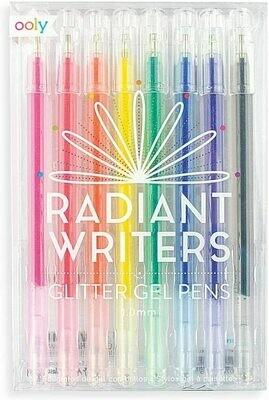 Ooly, Radiant Writers Glitter Gel Pens - Set of 8