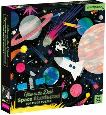 Puzzle 500 Piece Glow Family Space Illuminated
