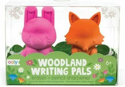 Woodlands Writing Pals Eraser & Sharpener - Set of 2