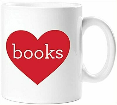 Heart Books Mug