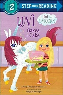Uni Bakes a Cake (Uni the Unicorn) (Step into Reading) Paperback