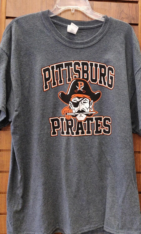 Pittsburg Pirates T-Shirt (Short-Sleeves) Gray