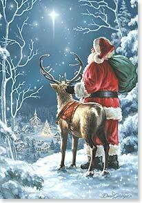 Christmas Card: May the light of Christmas shine