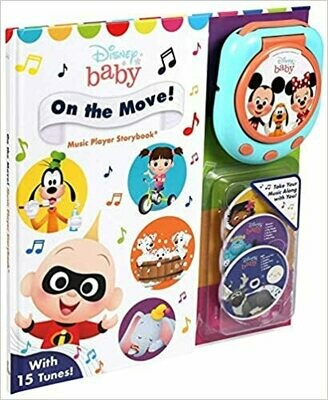 Disney Baby: On the Move! Music Player (Music Player Storybook) by Maggie Fischer (Hardcover)