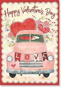 Valentine's Day Card: Hope you're feeling all the love coming your way today!