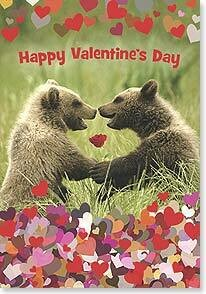 Valentine's Day Card: I love you so much I can bearly stand it!