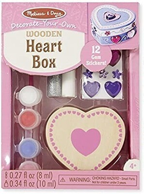 Melissa & Doug Heart Box Decorate-Your-Own Kit
