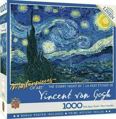 The Starry Night Vincent Van Gogh Puzzle - 1000 pcs