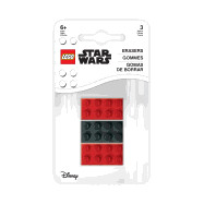 Lego Star Wars 3 Pack Brick Erasers