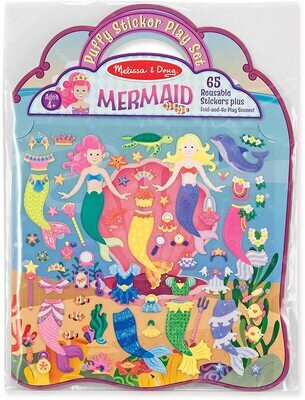 Melissa & Doug Puffy Sticker Activity Book: Mermaids - 65 Reusable Stickers
