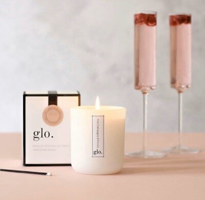 PINK CHAMPAGNE & POMELO GLO.CANDLE