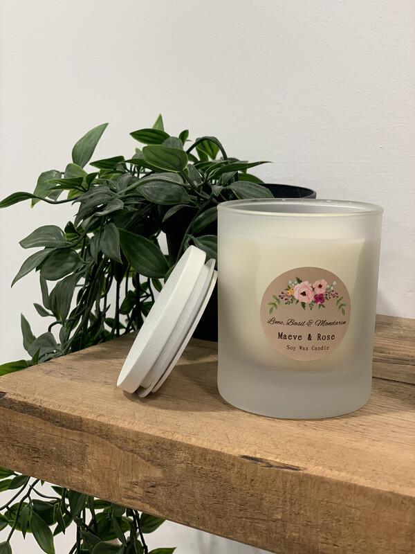 'Lime, Basil & Mandarin' M&R Jar Candle