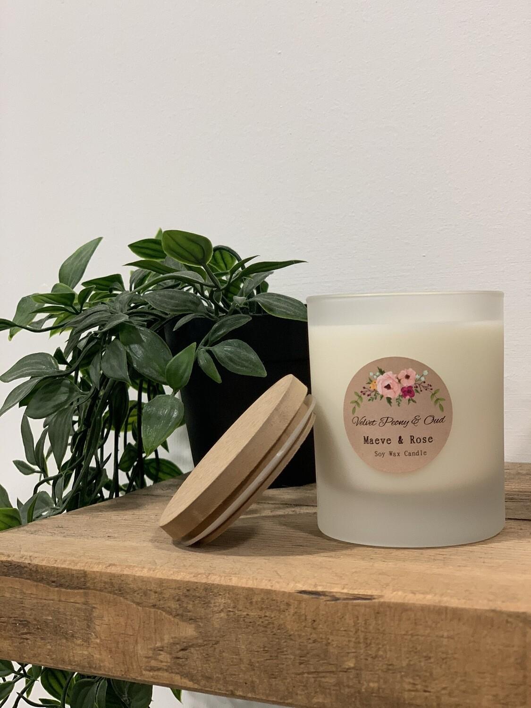 'Velvet Peony & Oud' M&R Jar Candle