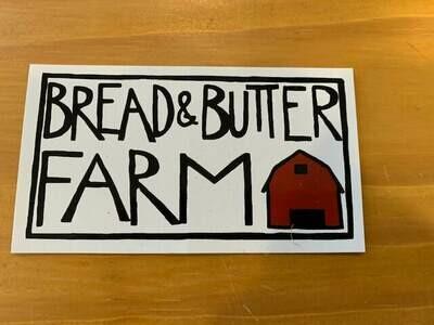 Bread and Butter Farm Bumper Sticker (2