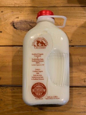 Milk - Whole - 1/2 Gal (Strafford Organic Creamery)