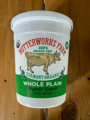 Yogurt - Plain - Quart (Butterworks Farm)