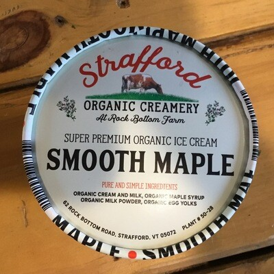 Ice Cream - Smooth Maple - Pint (Strafford Organic Creamery)