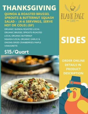 Thanksgiving side#3 - Quinoa + Roasted Brussel Sprouts + Roasted Butternut Squash Salad