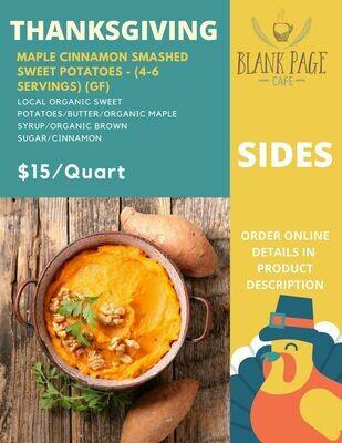 Thanksgiving Side#2 - Maple Smashed Sweet Potatoes