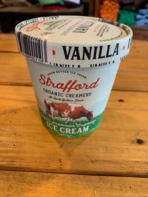 Ice Cream - Vanilla - pint (Strafford Organic Creamery)